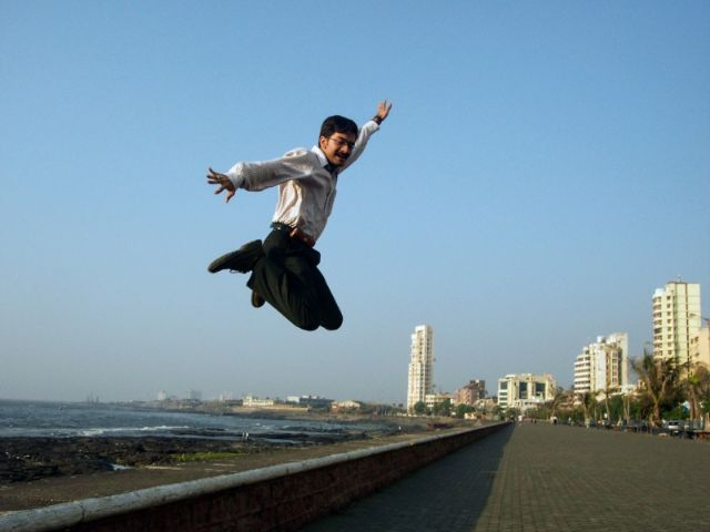 That's how I feel being an entrepreneur - Photo taken in 2003, Mumbai.